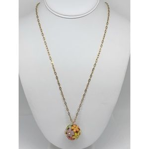 J. Crew Flower Ball Pendant Necklace
